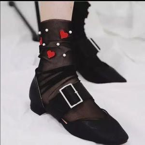 NEW 80's Goth Punk Skater Mesh Socks ❤️